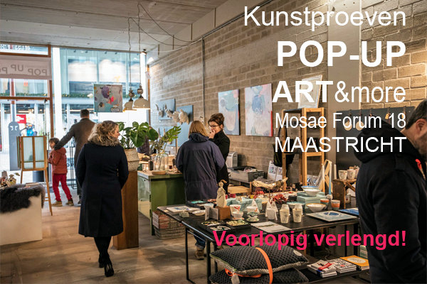 Pop-up Mosae Forum Maastricht door Kunstproeven ART & more
