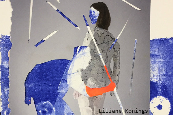 Liliane Konings bij Pop-up Mosae Forum Maastricht door Galerie Kunstproeven ART & more
